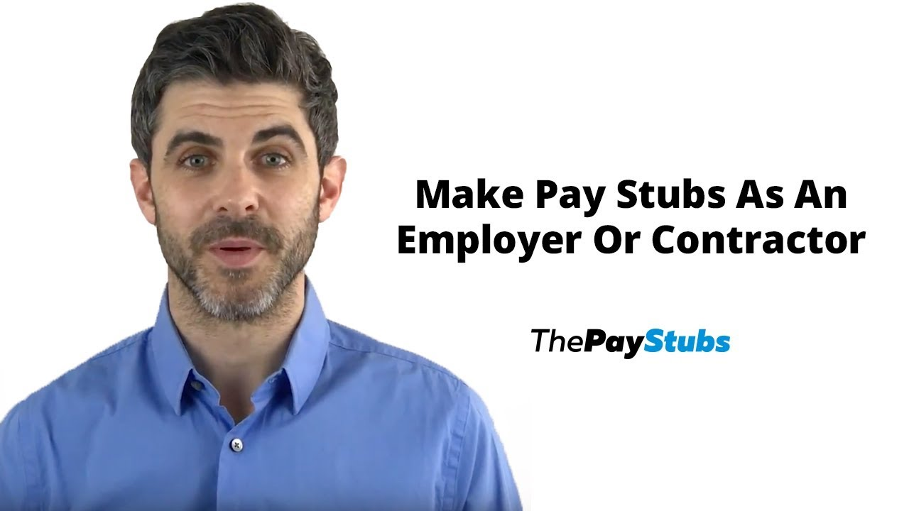 How To Make A Pay Stub As An Employer Or A Contractor?