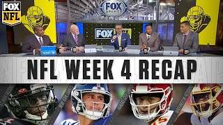 The nfl on fox crew discusses week 4 action including patrick mahomes' fourth-quarter comeback for chiefs, grim future redskins and falcons, ...