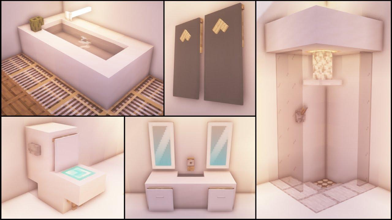 Minecraft 40 Bathroom Build Hacks And Ideas Youtube Concept bathroom ideas youtube