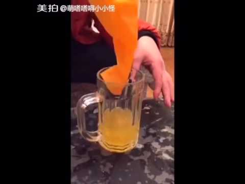 Shocking Clip Orange Juice and Drinks Mainly Produce By Chemical and Industry Color In China
