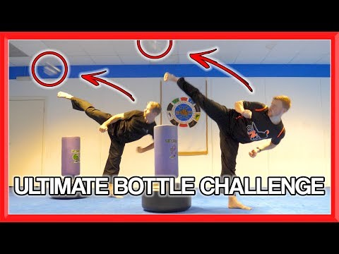 Martial Arts Bottle Challenge Sampler | GNT & Van Roon Taekwondo Kick Challenge