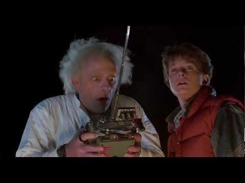 Back To The Future - 1985 - Delorean Time Machine 88 MPH [HD]