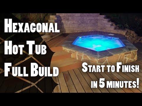 Hexagonal Hot Tub Build Full Build in 5 Minutes!