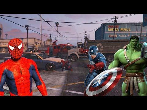 Örümcek Adam Kaptan Amerika Kavga, Hulk Örümcek Adam - Süper Kahramanlar Çizgi Film İzle #15