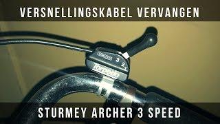 Versnellingskabel vervangen oude fiets - Sturmey Archer 3 speed