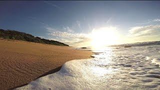 Waves Washing onto The Beach - Royalty Free HD Video Stock Footage