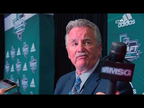 Gordie Clark Thrilled With First-Round Picks at 2018 NHL Draft | New York Rangers | MSG Networks