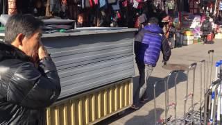 남대문시장 노점 오후 4시 mobile kiosks rushing in Namdaemun Market 4 PM