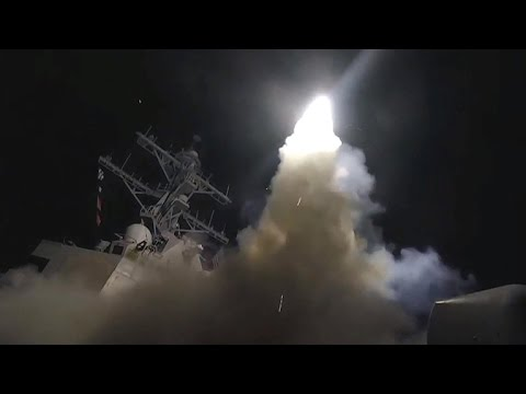 U.S. missiles hit Syria air base behind chemical attack