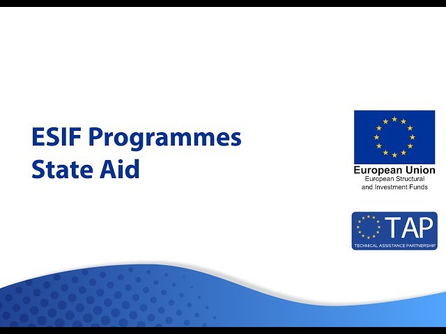 ESIF TAP State Aid Sept 2018