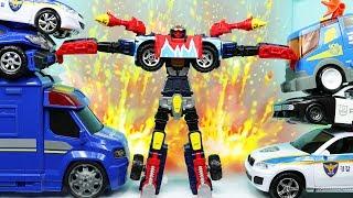 헬로카봇 비트런 춤추기 변신 자동차 놀이 뽀로로 장난감 경찰카봇 출동! 카봇시즌6 Hello Carbot Transformer Robot