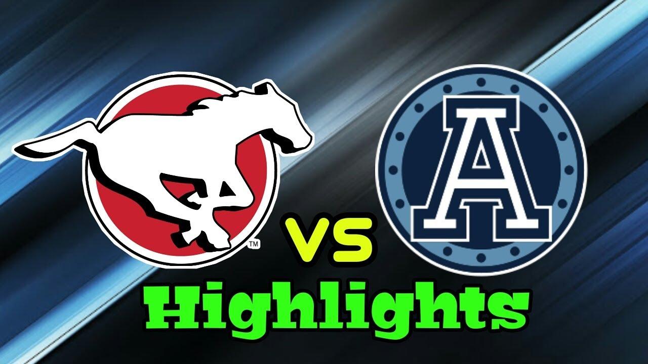 Calgary Stampeders Vs Toronto Argonauts CFL Highlights Week 1 8/7/21