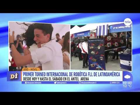 El Antel Arena recibe el primer torneo internacional de robótica de Latinoamérica