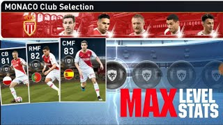Max Stats Of Monaco Club Selection Players | PES 2019