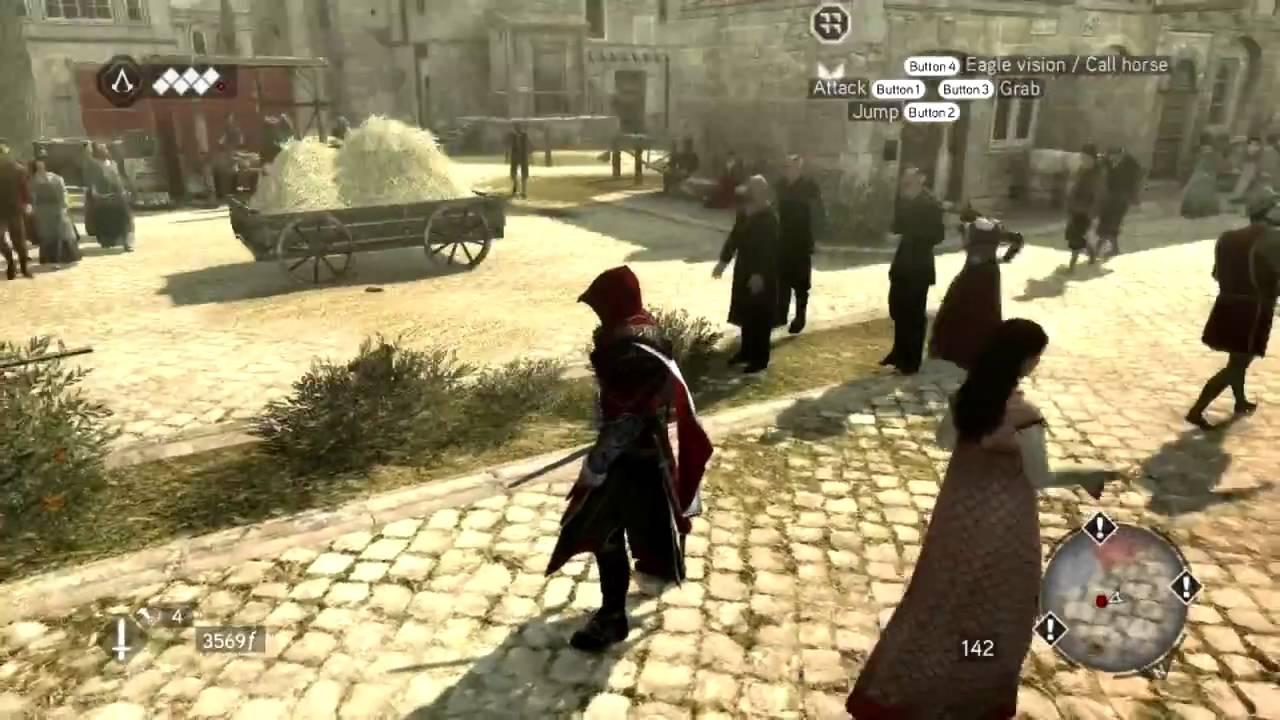 Assassin S Creed Brotherhood Gameplay Fighting Free Running