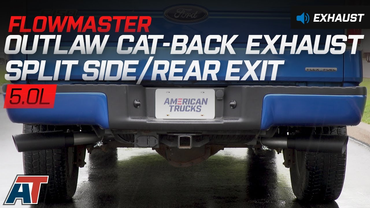 2011 2014 f150 flowmaster outlaw cat back exhaust 5 0l sound clip install