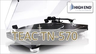 High End 2016: TEAC TN 570 Plattenspieler - hands on