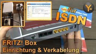 FRITZ! Box 7490: Verkabelung & Einrichtung für DSL mit ISDN-Telefonie