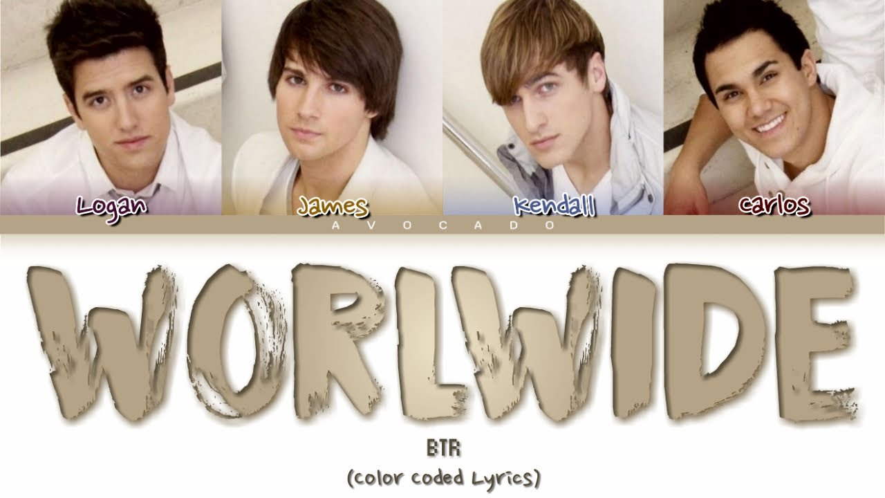Download Big Time Rush - Worldwide (Color Coded Lyrics)