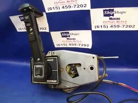 SOLD  Control Box Mercruiser Flush Mount Shift Assembly $17495 Mercury Quicksilver  YouTube