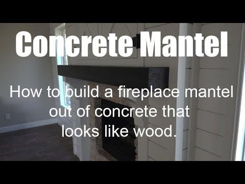 Better Than Wood!!! Concrete Fireplace Mantel