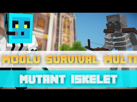 Sezon 4 Minecraft Modlu Survival Multi Bölüm 8 - Mutant İskelet Peşimi Bırak