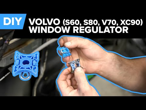 Volvo Window Regulator Sliding Block Replacement - Easy DIY (S60, S80, V70, XC90)
