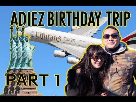 Naik pesawat tingkat ke Amerika! (business class Emirates Airbus A380) #AGvlog #adiezgilangtonewyork