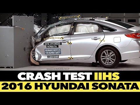 2016 Hyundai Sonata IIHS CRASH TEST Small Overlap [GOOD]