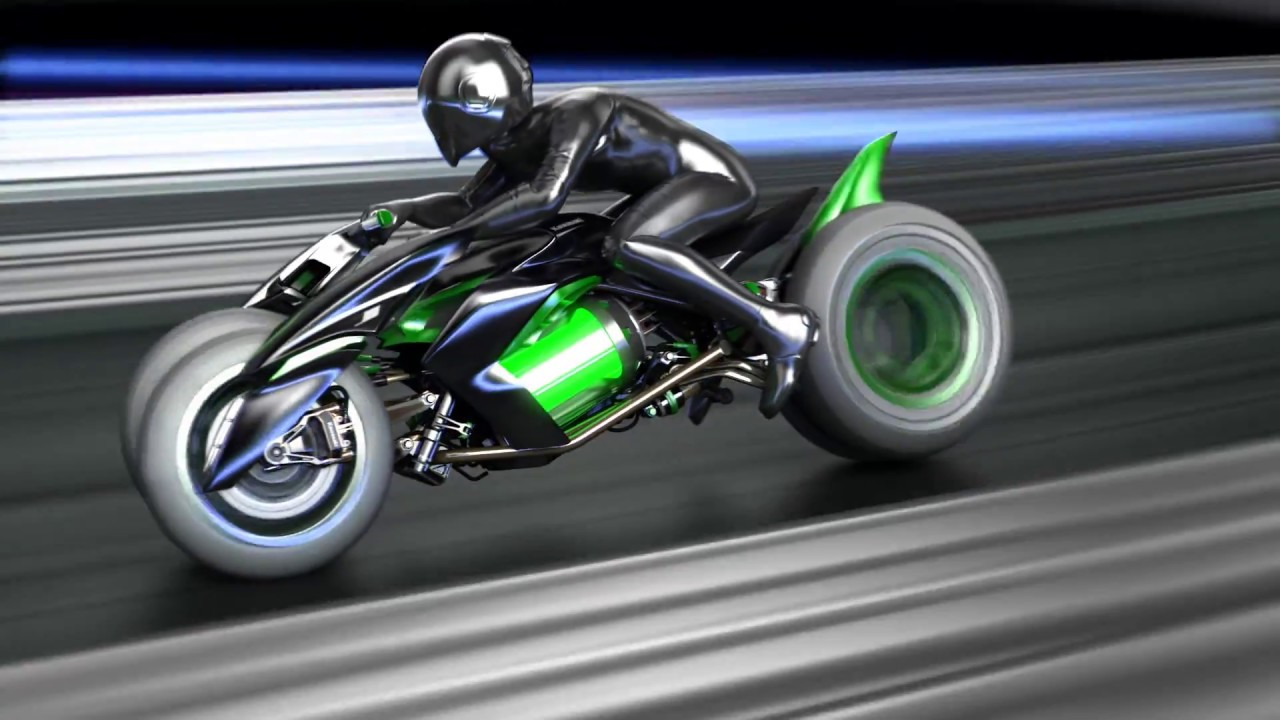 More On Kawasaki S Futuristic Leaning Three Wheeler Visordown