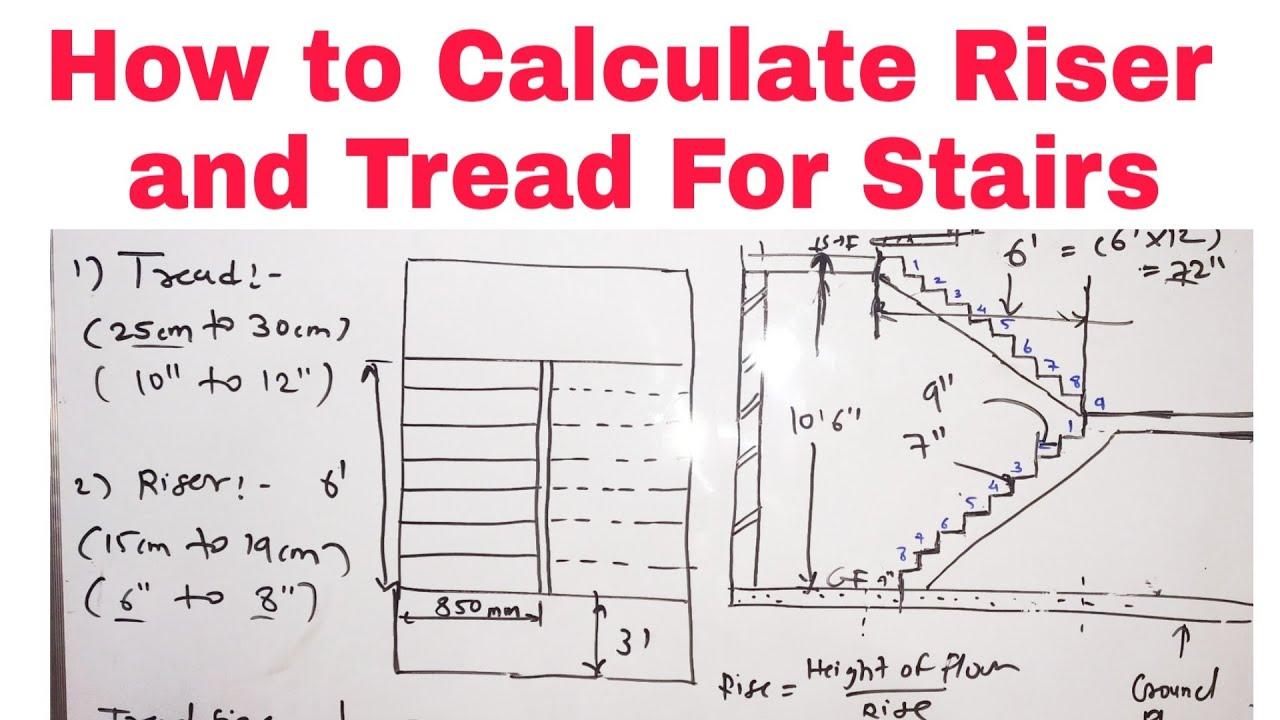 How To Calculate Rise And Tread Of Stair 2021 Youtube