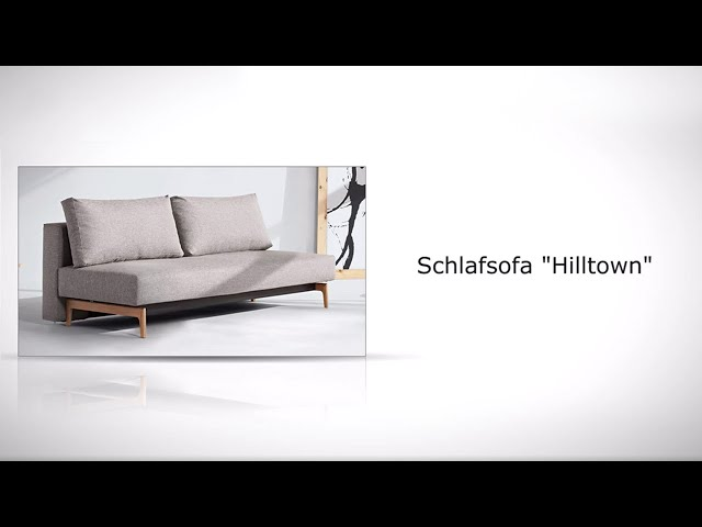puristisches schlafsofa ausziehbar zum doppelbett hilltown. Black Bedroom Furniture Sets. Home Design Ideas