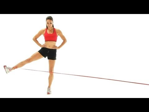 Hip exercise - Hip abduction with band