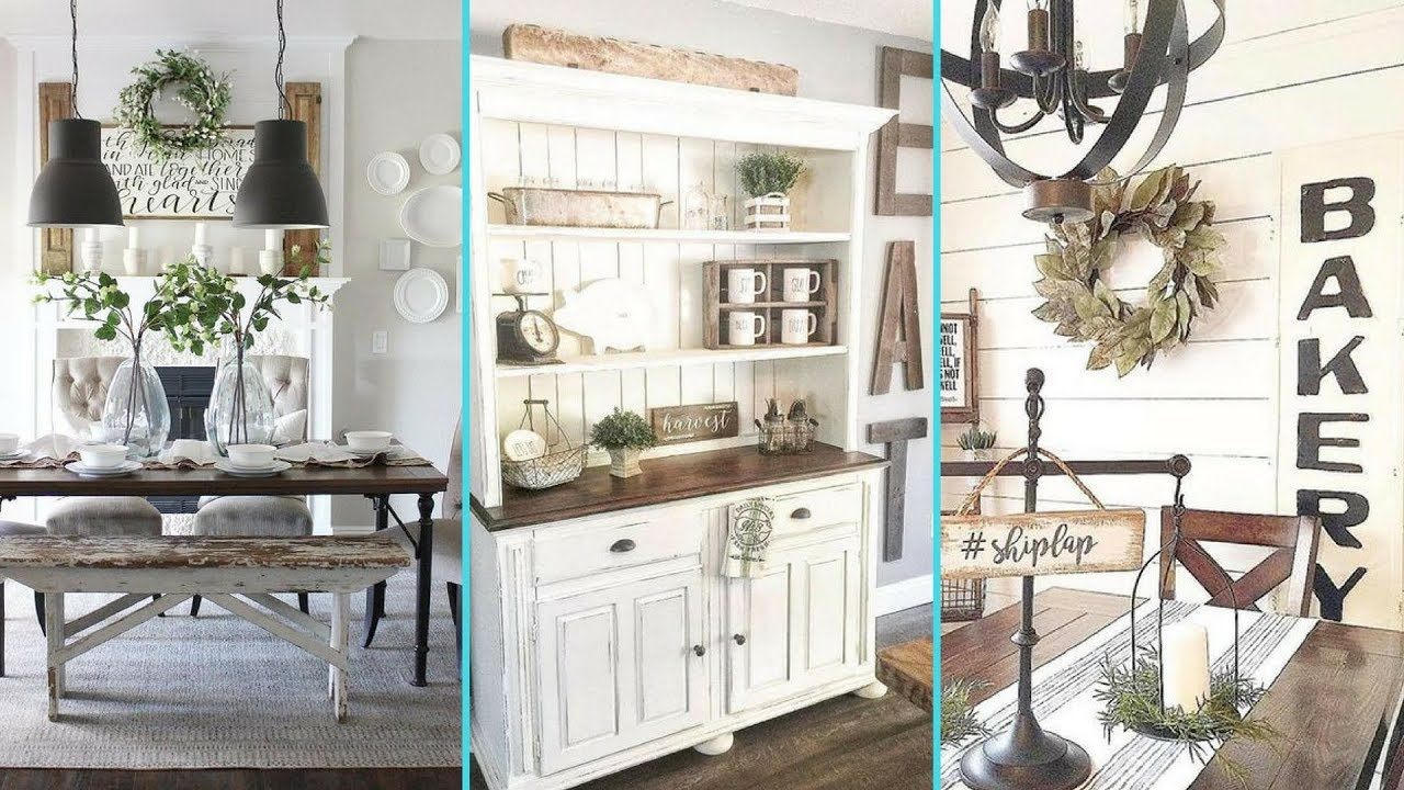 DIY Rustic Shabby Chic Style Dining Room Decor Ideas