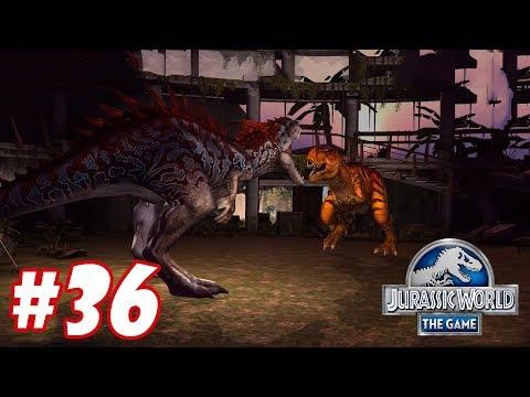 Indominus vs 2 Tyrannosaurus Rex : Trò chơi nuôi khủng long đánh nhau - Jurassic World The Game #36