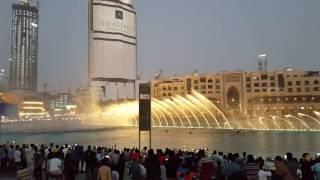 Music water fountain at Dubai mall/burj Khalifa, Dubai.