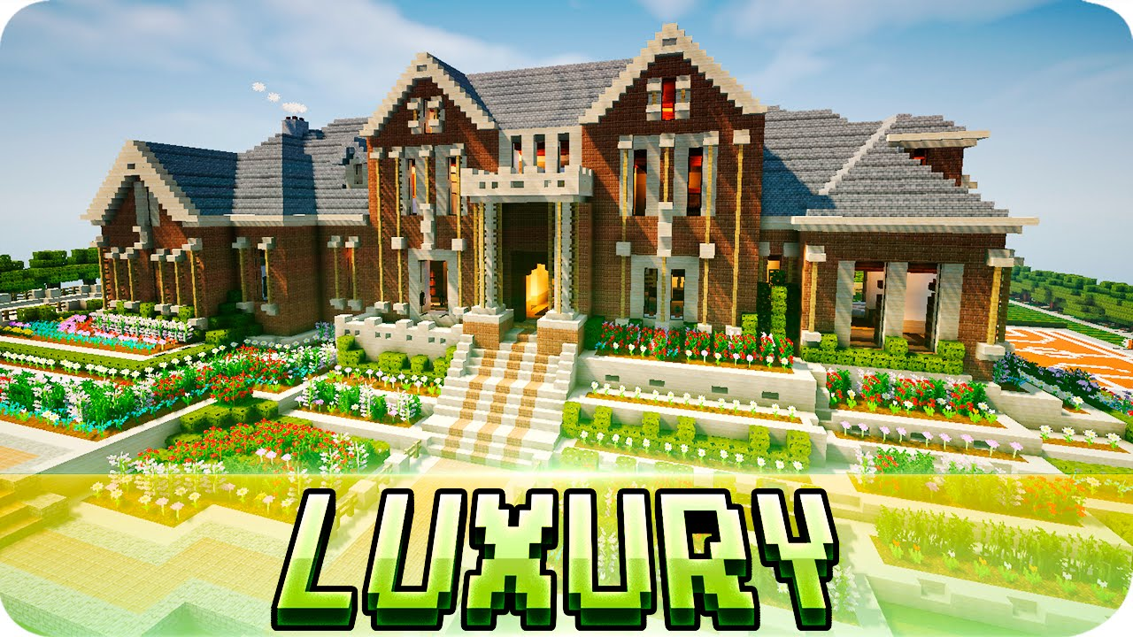 Minecraft Luxury Brick Mansion House Map W Download YouTube - Coole maps fur minecraft zum downloaden