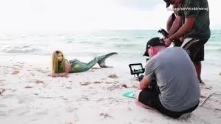 Nicki Minaj goes topless as a mermaid for new music video