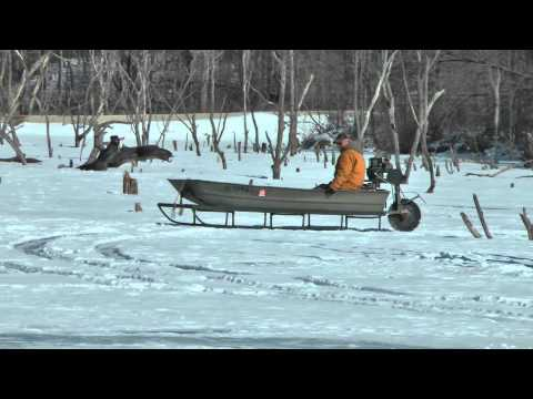 Rare Ice Sled is a novel idea. Free Fishing Video on  Species  by WillCFish Tips and Tricks.