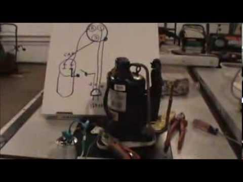 Wiring Refrigerator Compressor for DIY Air Compressor - YouTube