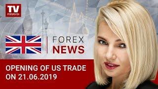 InstaForex tv news: 21.06.2019: USD keen to regain losses (USD, CAD)