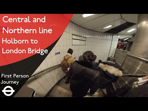 London Underground First Person Journey - Holborn To London Bridge Via Bank