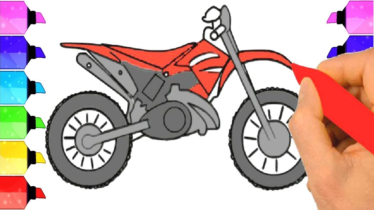 Dirt Bike Drawing How To Draw A Dirt Bike Drawing Extra Youtube