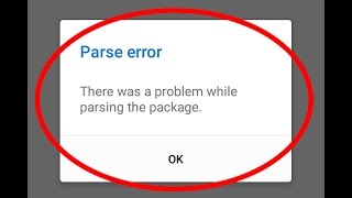 How to fix Parse error-There was a problem while parsing the package