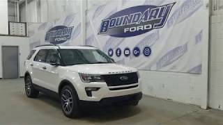 2018 Ford Explorer Sport 400A W/ 3.5L EcoBoost, Leather Overview | Boundary Ford
