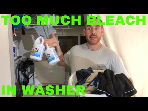 Wash clothes with TOO MUCH BLEACH in Washing Machine!! SEE What happens To Laundry