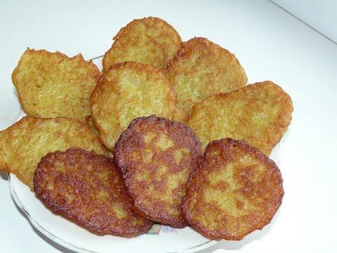 Постные драники из картошки