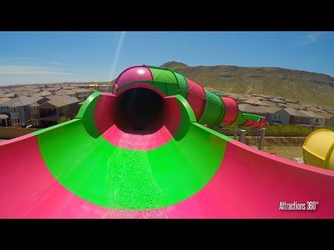 [4K] Rattler Water Slide Ride - Wet n Wild Water Park - Las Vegas