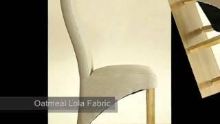Kuba Solid Oak Dining Table & 6 Oatmeal Lola Fabric Dining Chair