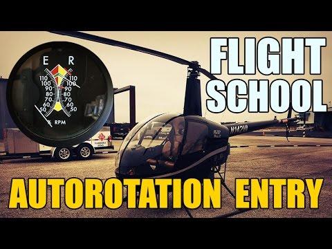 Helicopter Flight School - Autorotation Entry